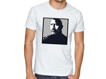 pánské bílé tričko Dwayne Johnson