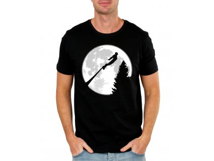 pánské černé tričko iron man avengers moon