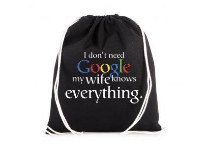 vak Nepotřebuji google moje žena ví všechno