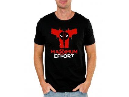 panske tričko Deadpool Maximum effort