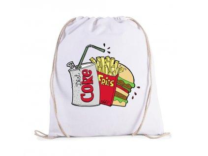 vak Kola hranolky hamburger