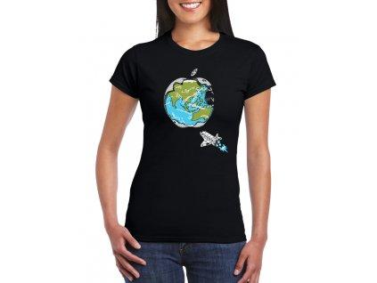 dámské tričko Apple svět