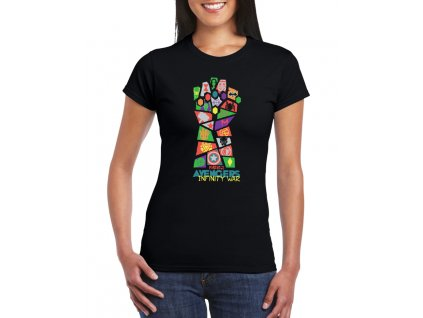 dámské černé tričko avengers