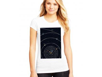 dámské tričko vesmír solární soustava