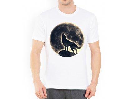 panske tricko měsíc vlk