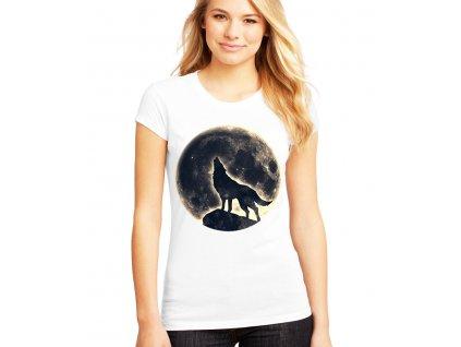dámské tričko Měsíc vlk