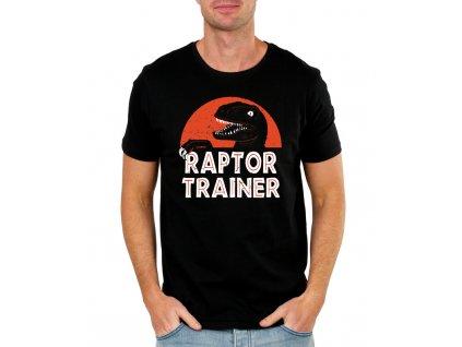 pánské modré tričko raptor trainer - jurský park