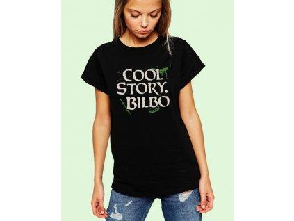 dámské černé tričko cool story bilbo