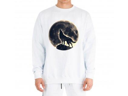 mikina bez kapuce Měsíc vlk