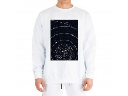 mikina bez kapuce Vesmír solární soustava