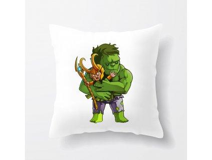 polštář Hulk a Loki Avengers