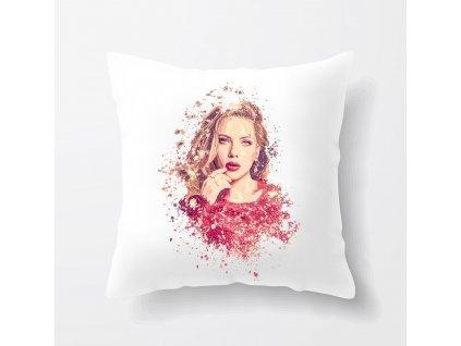 polštář Scarlett Johansson Kresba