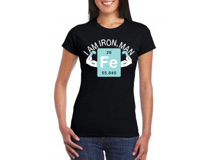 dámské černé iron man tričko