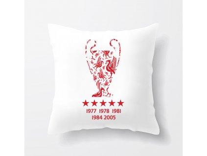 polštář Liverpool FC Vítězové Ligy mistrů