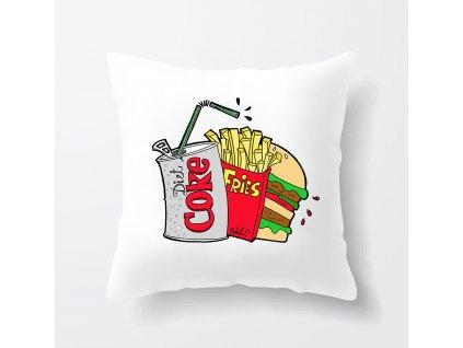 polštář Kola hranolky hamburger