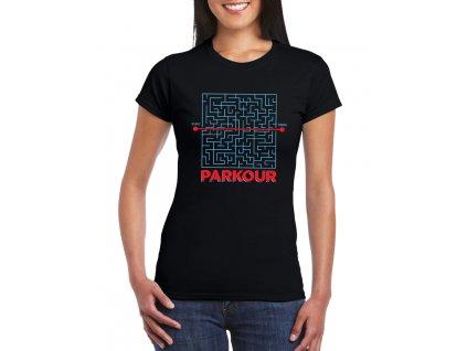 dámské tričko s potiskem parkour