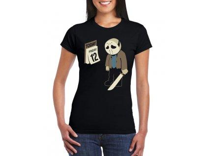 dámské černé tričko pátek třináctého
