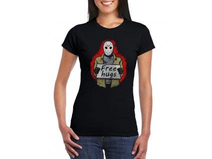 dámské černé tričko pátek třináctého obětí zdarma