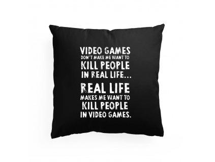 polštář Video Hry Zabíjejí