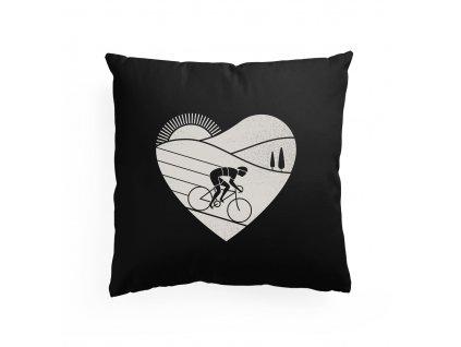 polštář Miluji jezdit na kole