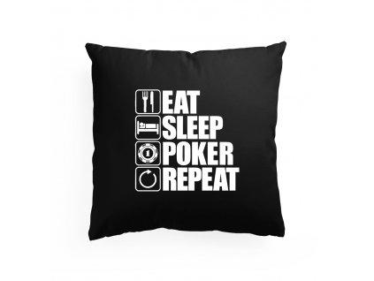 polštář Najíst, Vyspat, Poker, Opakovat