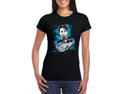 Dámské černé tričko Rychle a zběsile Paul Walker