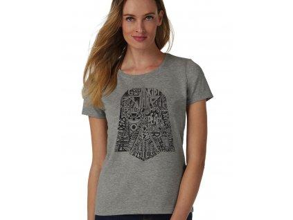 Dámské šedé tričko Star Wars Darth Vader