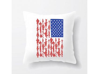 polštář rybaření americká vlajka