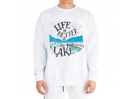 Mikina rybaření život je lepší u jezera