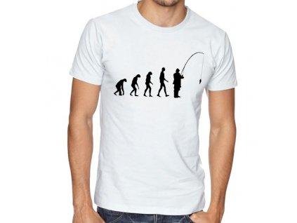 pánské tričko Rybaření evoluce