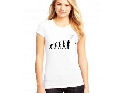 dámské tričko Rybaření evoluce