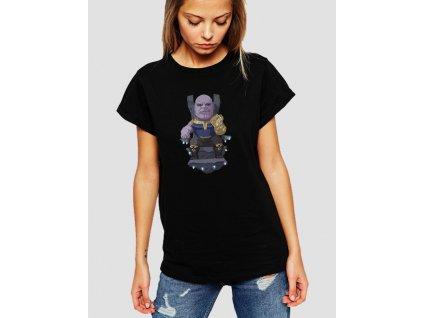 dámské černé tričko Thanos Avengers 2