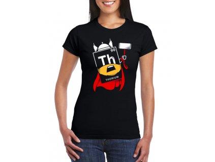 Dámské černé tričko Thor