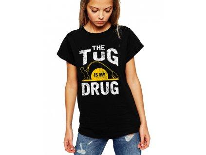 dámské tričko rybaření je moje droga