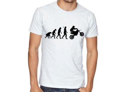 Pánské tričko Evoluce motorkář