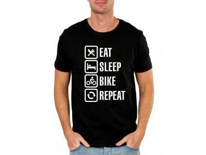 Pánské tričko Najíst Vyspat Motorka Opakovat