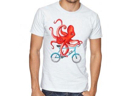 Pánské tričko Cyklista Chobotnice