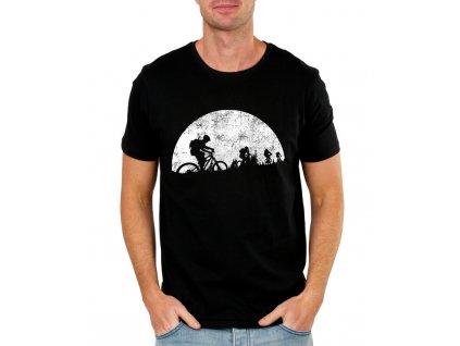 Pánské tričko Měsíční jízda cyklistika