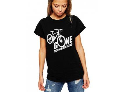 Dámské tričko Horská jízda na kole