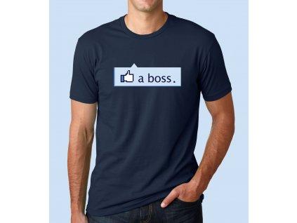 pánské modré tričko to se mi libí