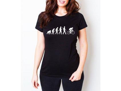 Dámské tričko Cyklistika evoluce