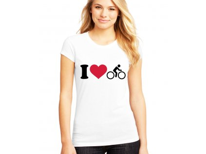 Dámské tričko Miluji Cyklistiku