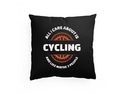 Polštář Vše co mě zajímá je cyklistika