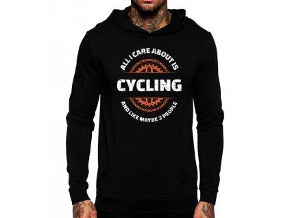 Mikina Vše co mě zajímá je cyklistika