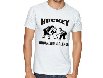 Pánské tričko Hokej organizované násilí