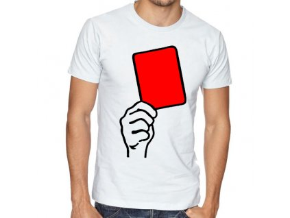 Pánské tričko Fotbal červená karta