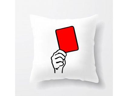 Polštář Fotbal červená karta
