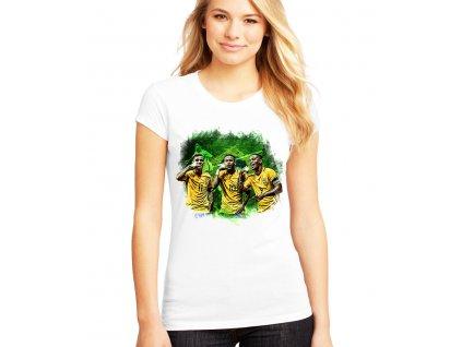 Dámské tričko Brazílie fotbal