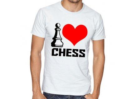 Pánské tričko Miluji šachy