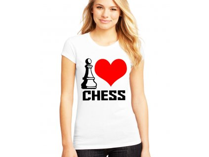 Dámské tričko Miluji šachy